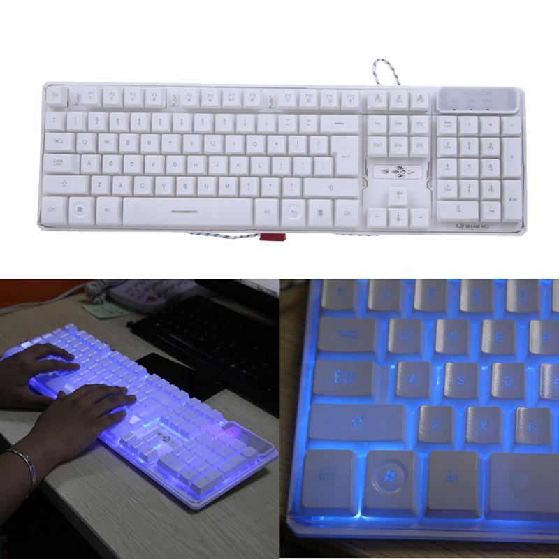 NI5L Mechanical keyboard V300 LED Backlit USB Wired Gaming Keyboard 104keys(China (Mainland))