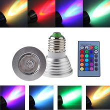 100-240V E27 Multi Color Change RGB LED Light Bulb Lamp with Remote Control Free shipping(China (Mainland))