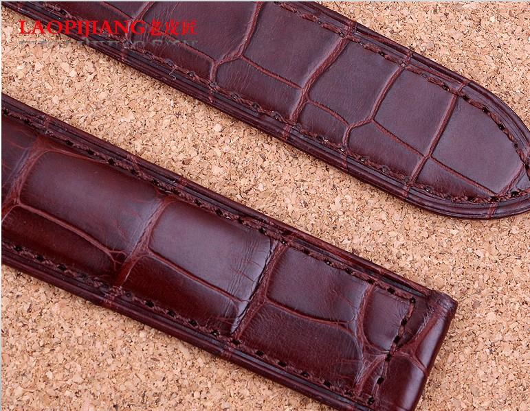 Laopijiang ремешок из кожи крокодила кожаный браслет для мужчин и женщины часы с 18 | 20 мм черный коричневый