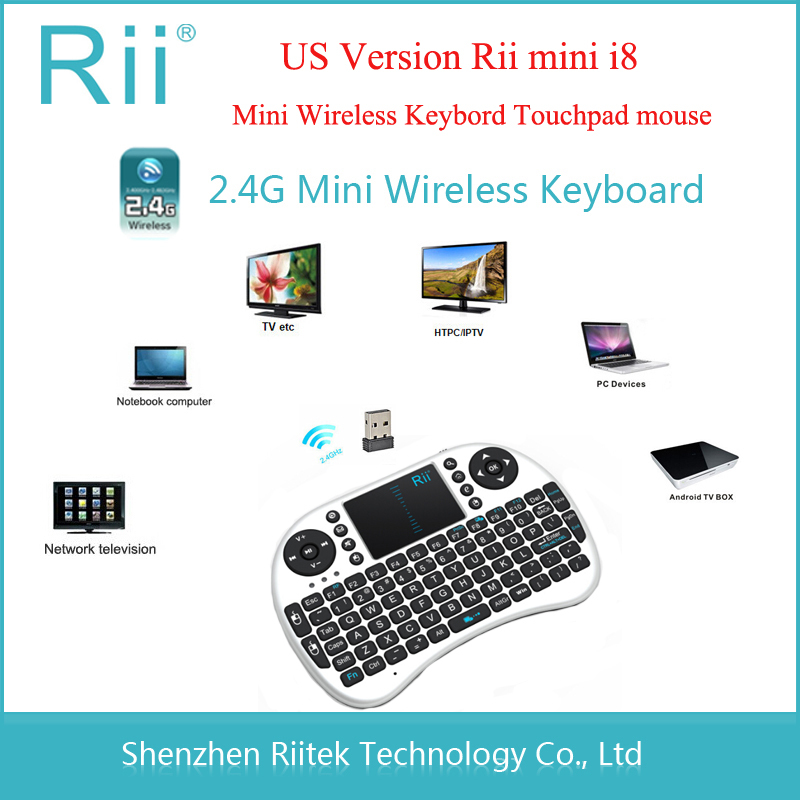 Free shipping Original 2.4G RF Rii Mini i8 Wireless Keyboard with Touchpad mouse Portable gaming Keybord for PC Tablet HTPC IPTV(China (Mainland))