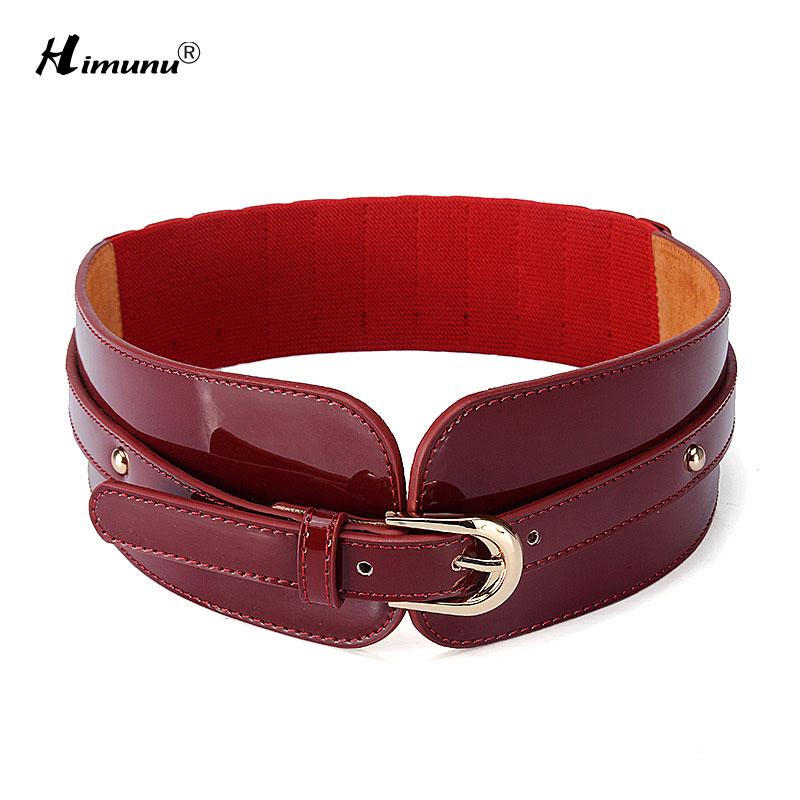 fashion elastic belt pin buckle cowskin genuine
