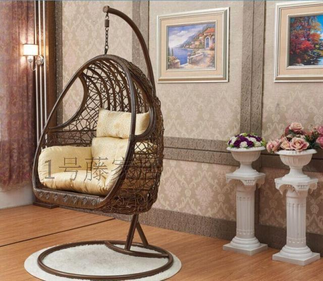 rattan basket swing hanging chair indoor full manual. Black Bedroom Furniture Sets. Home Design Ideas