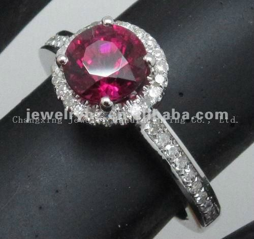 Solid 14k White Gold Natural Tourmaline &amp; Natural Diamond Ring Settings, Wholesale<br><br>Aliexpress