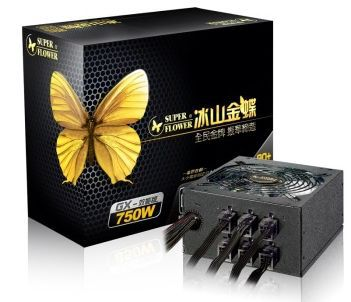 SUPERFLOWER 750W 100~250VAC input half modular 80plus gold ATX PC power supply unit SF-750P14XE(GX)(China (Mainland))