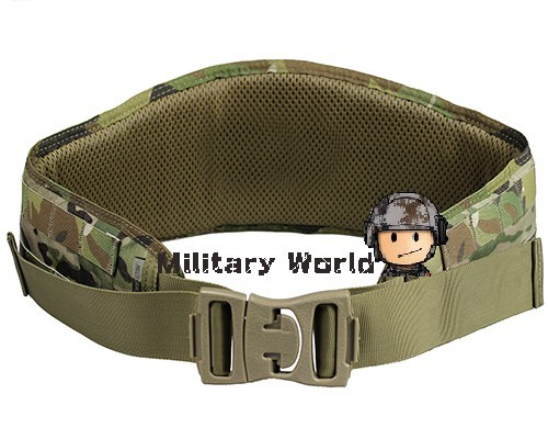 Tactical Airsoft Combat Padded Molle 1000D Nylon Adjustable Waist Belt  Battle Hunting Military Belt Multicam Free Shipping