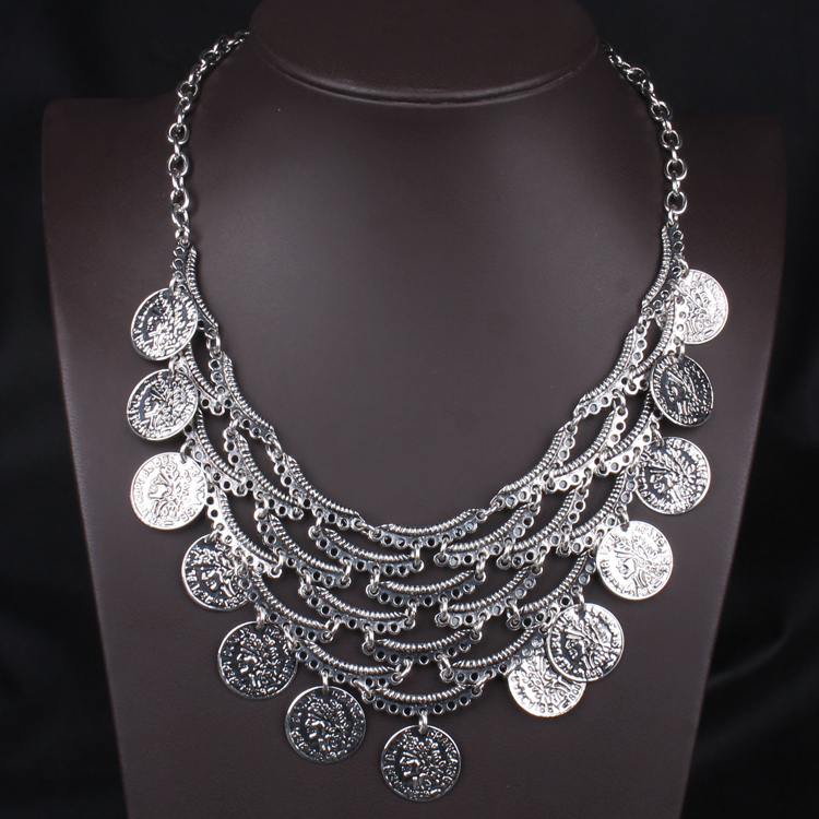 fashion silver necklace 2016 wholesale new crude to