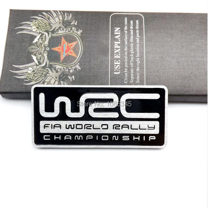Hot sale Car Styling Metal Black Emblem Badge Decal WRC Racing Motorsport World Rally Championship Sticker for SUBARU Decorative