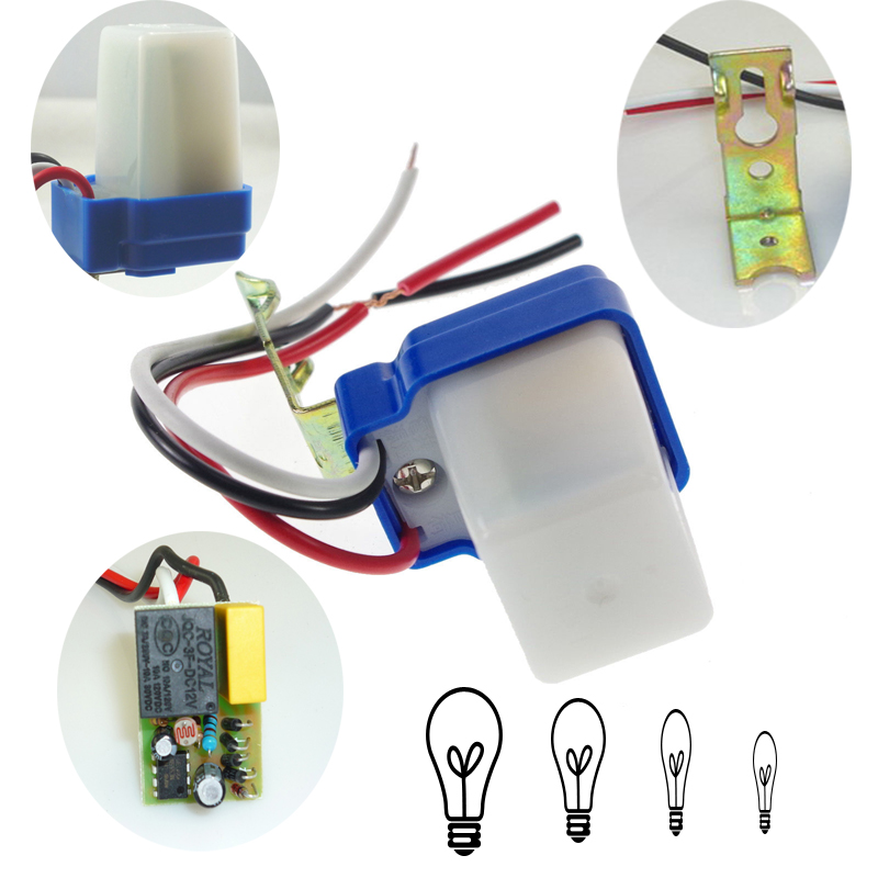 Wiring Photocell Light Control: AS-10 10A 12V 50-60Hz Photo Control Auto On/Off Street Light S