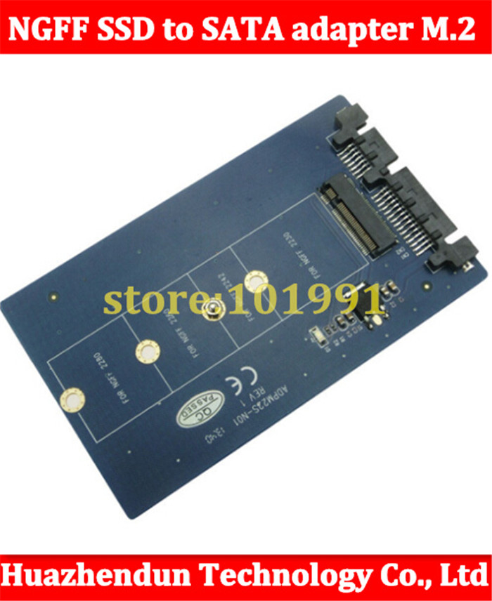 10pcs New NGFF SSD to SATA adapter M.2 Interface to SATA 2.5-inch solid state drive serial adapter Free shipping<br><br>Aliexpress