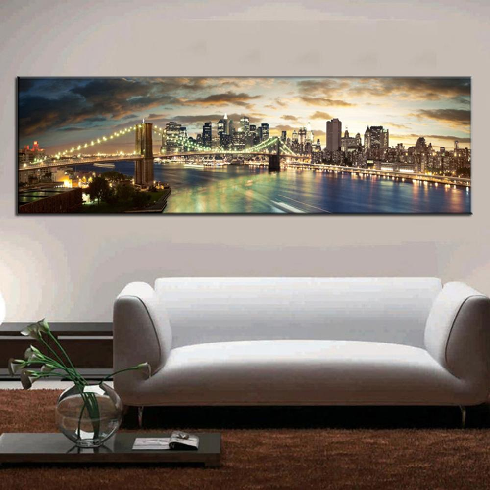 online kaufen gro handel brooklyn bridge leinwand aus china brooklyn bridge leinwand gro h ndler. Black Bedroom Furniture Sets. Home Design Ideas