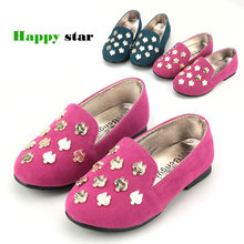 2013 spring child girls shoes spring metal patch princess leather single shoes girl's sneakers(China (Mainland))