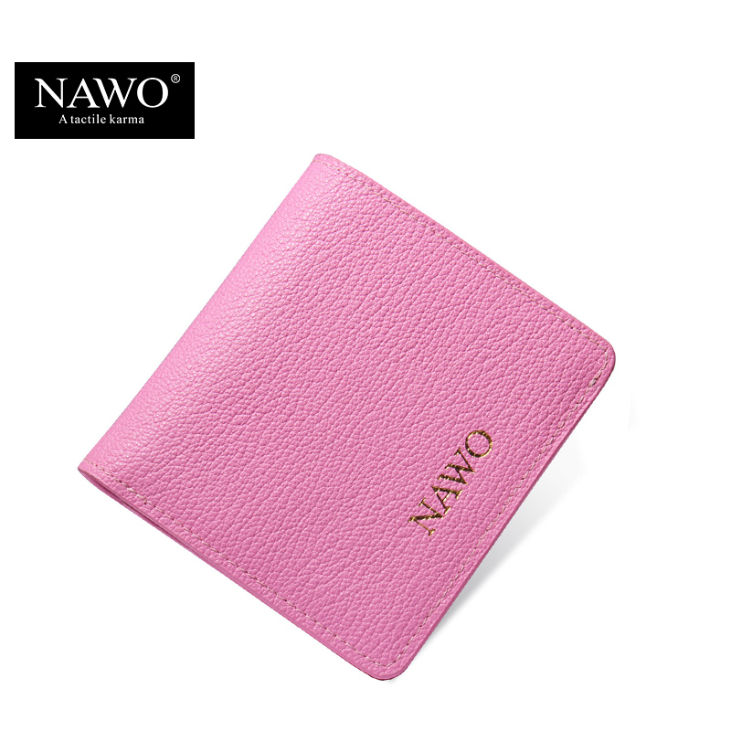 NAWO New Pink Women Wallets Famous Brands Leather Women Short Wallets Ladies Small Coin Purse Female Credit Card Change Purses(China (Mainland))