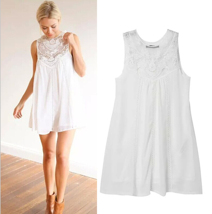 Brand new flowy white dress in size large women's. Brand new with tags. Ordered from online catalog and did not return in time. Make my loss your gain.