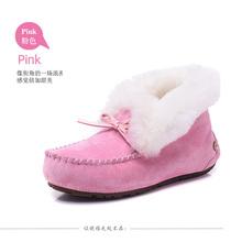 Nieve botas de piel de 2016 de invierno nuevos de alta superior zapatos de la princesa arco gamuza zapatos calientes envío gratis(China (Mainland))