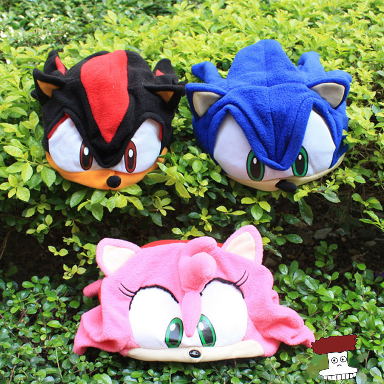 Anime Cartoon Sonic The Hedgehog Plush Hat Cosplay Cap Warm Winter Hat For Kids 3 Colors(China (Mainland))