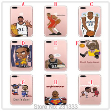 Basketball Player 3D Eye Move Cartoon Soft TPU Case For Iphone 7 PLUS I7 6 6S I6 SE 5 5S Kevin Durant O 'neill Skin Cover 100pcs(China (Mainland))