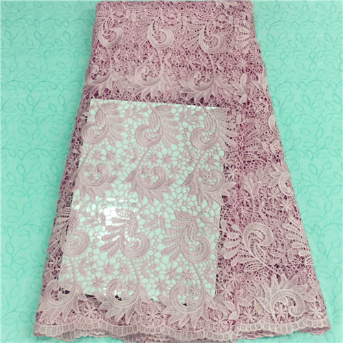 Beautiful pink lace high quality african cord lace fabric online,good price african guipure lace in stock 5157-6