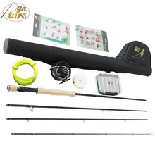 Goture MaxWay Fly Fishing Set 3/4 5/6 7/8 Carbon Fly Fishing Rod Reel with Fly Line Files Lure Box