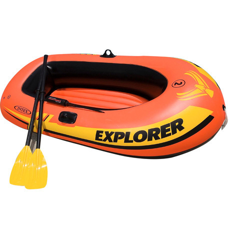 Two inflatable boat adventure group Fishing boat OARS pump(China (Mainland))