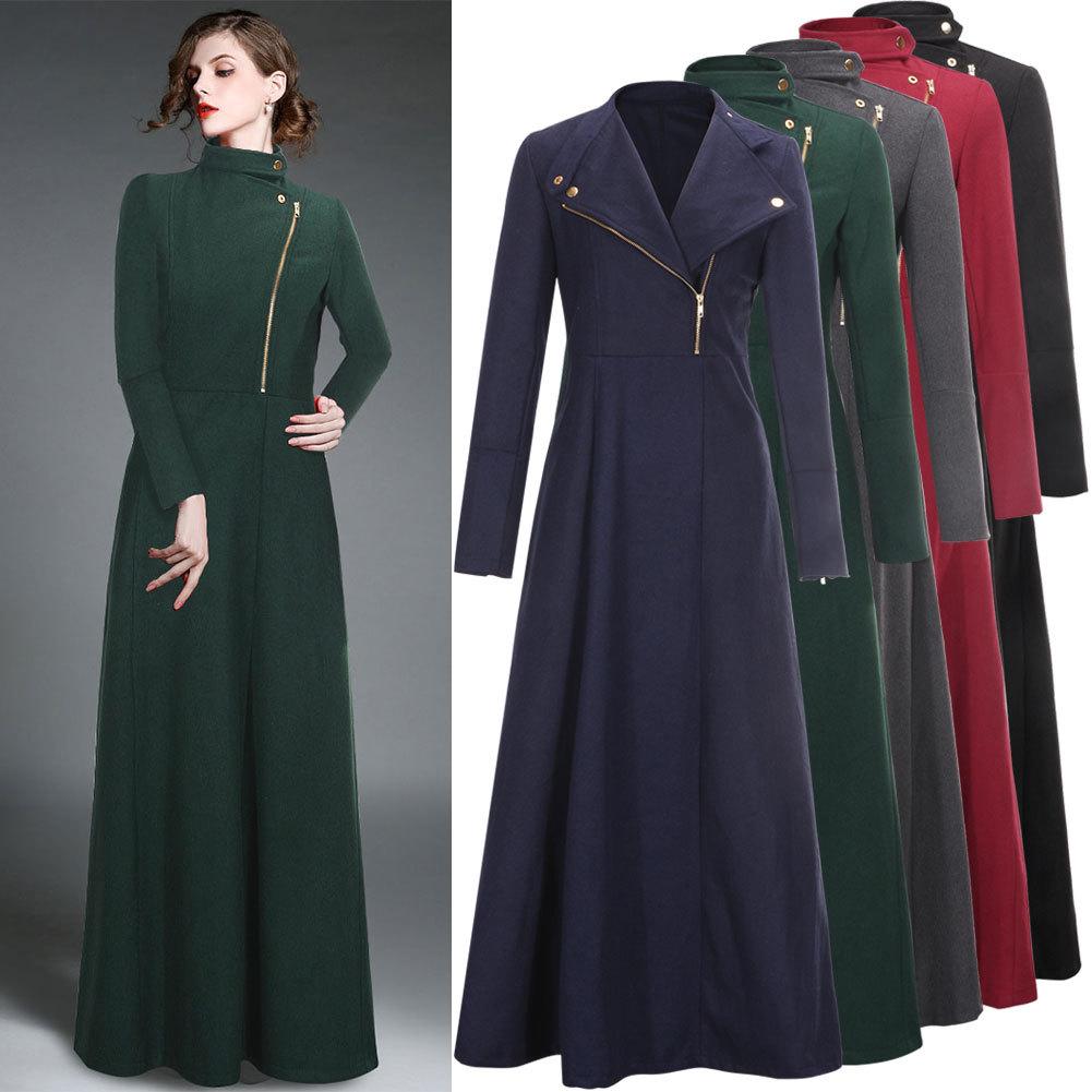 Ladies long coat cashmere wool – New Fashion Photo Blog