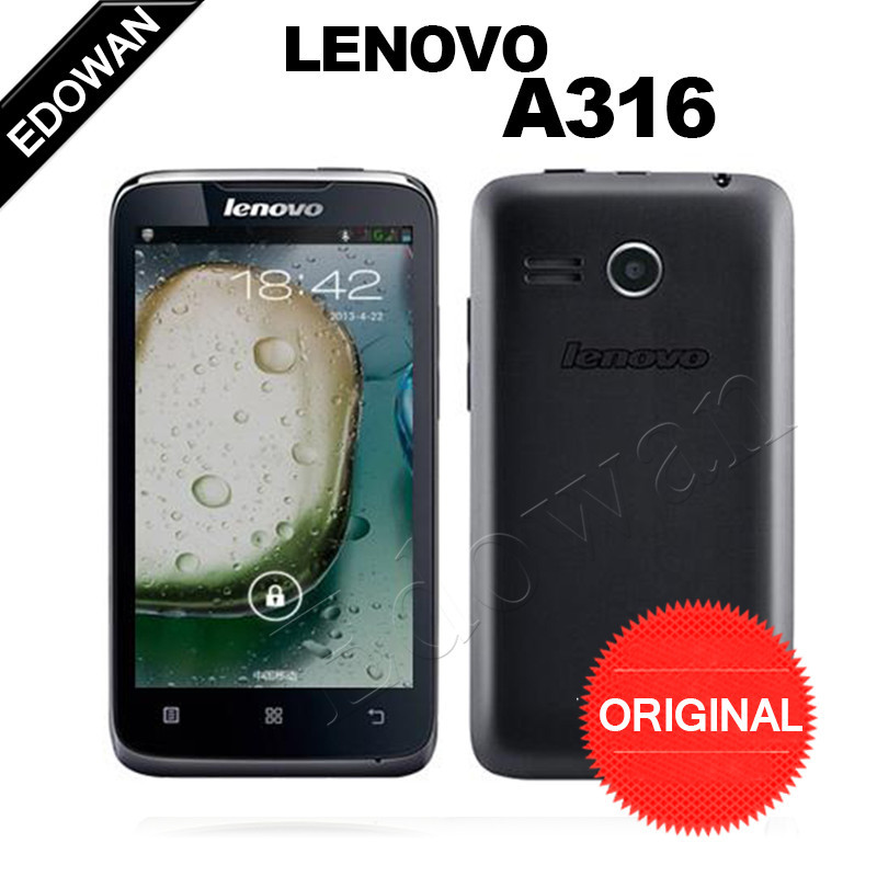 """2015 new Lenovo A316 Mobile Phone 4.0"""" Inch MTK6572 Dual Core Android Bluetooth WiFi 3G WCDMA Dual Core Smart phone(China (Mainland))"""