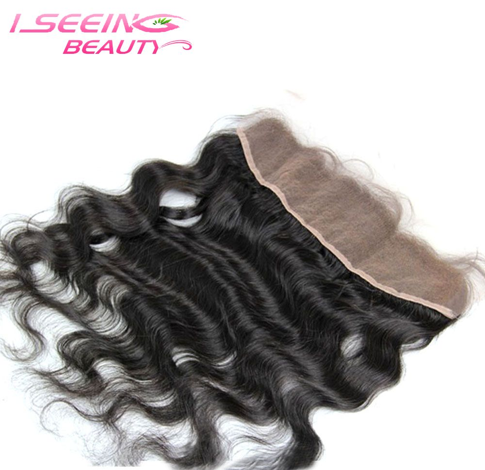 8A Brazilian virgin hair 13x4 body wave ear to ear swiss lace frontal bleached knots natural color can be DYED Free shipping(China (Mainland))