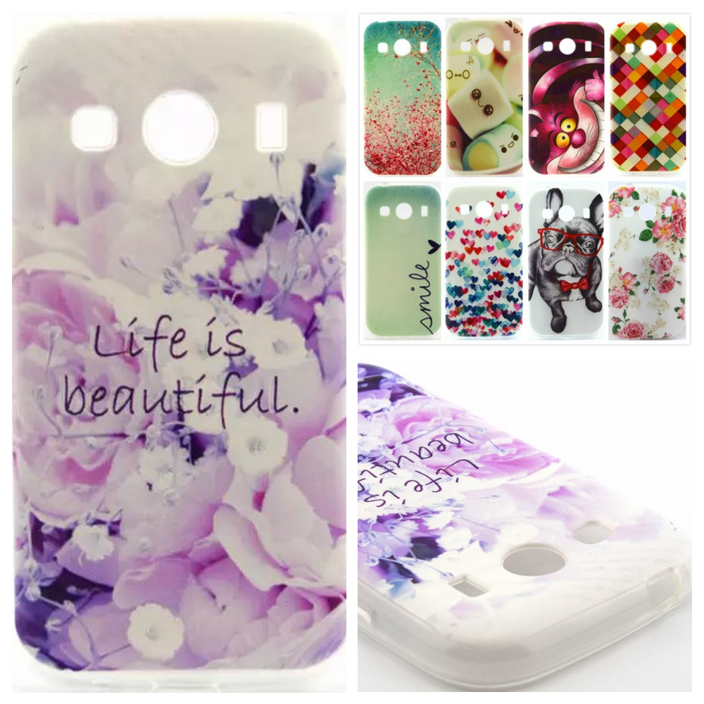 Fashion Pattern design Soft TPU Rubber Case Back Cover Skin Pouch For Samsung Galaxy Ace 4 Style LTE G357 G357FZ()