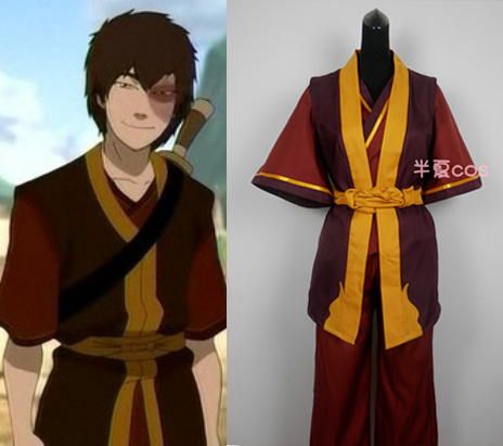 Movie Coser-5 High Quality PrinceZuko In Avatar: The Last Airbender Cosplay Costume