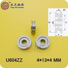5PCS 4mm Walking guide rail groove U groove 604UU 4*13*4mm 3D printer dedicated feeding roller bearings U604 SZU4-13 U604ZZ