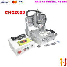 Freeshipping to Russia no tax mini CNC router CNC2020 CNC 2020 engraving machine 300W DC spindle