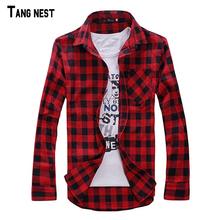 Men Plaid Shirt Camisas 2016 New Arrival Men's Fashion Plaid Long-sleeved Shirt Male Casual High Quality Shirt  I194(China (Mainland))
