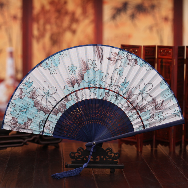 The new 2016 ms manufacturers supply high-grade fine silk hand-painted head gifts wholesale folding fan(China (Mainland))