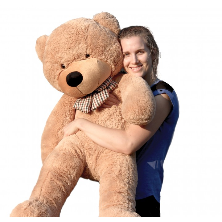 "Joyfay 47"" 120cm Light Brown Giant Teddy Bear 1.2m Huge Stuffed Plush Toy Big Soft Toy Gift for Birthday Valentine Anniversary(China (Mainland))"