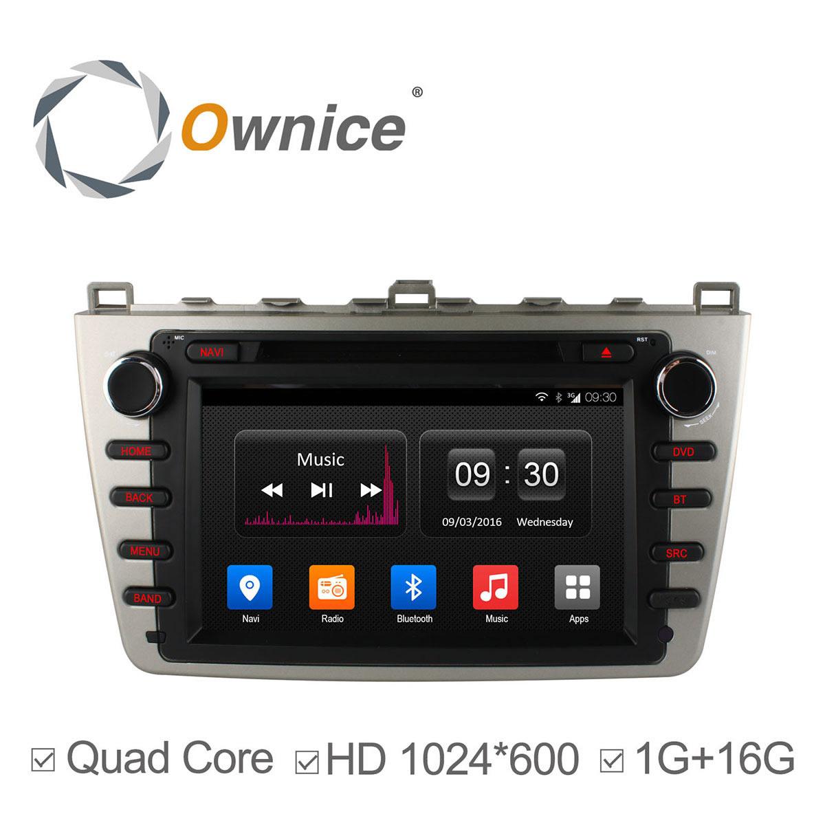 1024*600 ROM 16G Quad Core Android 4.4 FOR MAZDA 6 Ruiyi Ultra 2008 2009 2010 2011 2012 Car DVD Player GPS Radio wifi DAB+ DVR(China (Mainland))