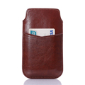 5 5 inch Universal PU Leather Phone Pouch for iPhone 6 6S Plus 6 5 5S