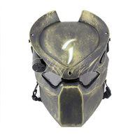 зеленый черный чужеродных airsoft пейнтбол cs игра войны анфас защитные привело света череп маски 2015