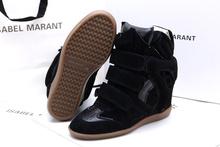 Isabel Marant black suede sneakers