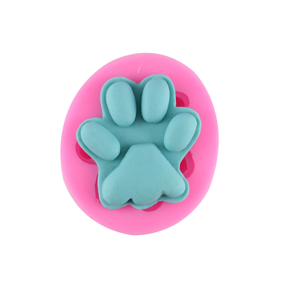Silicone Fondant Cake Molds 3D Dog Paw Soap Chocolate Cookie Mould Polymer Clay Kitchen Cake Baking Tools Free Shipping CT951(China (Mainland))