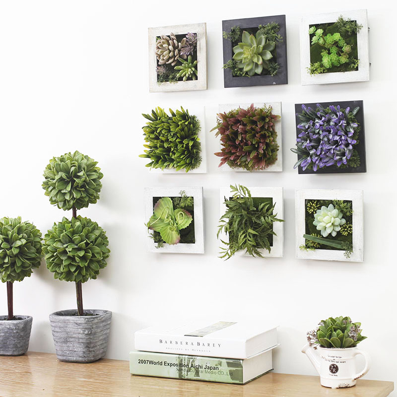 Home decoration modern artificial plants wall mural for Kitchen garden decoration