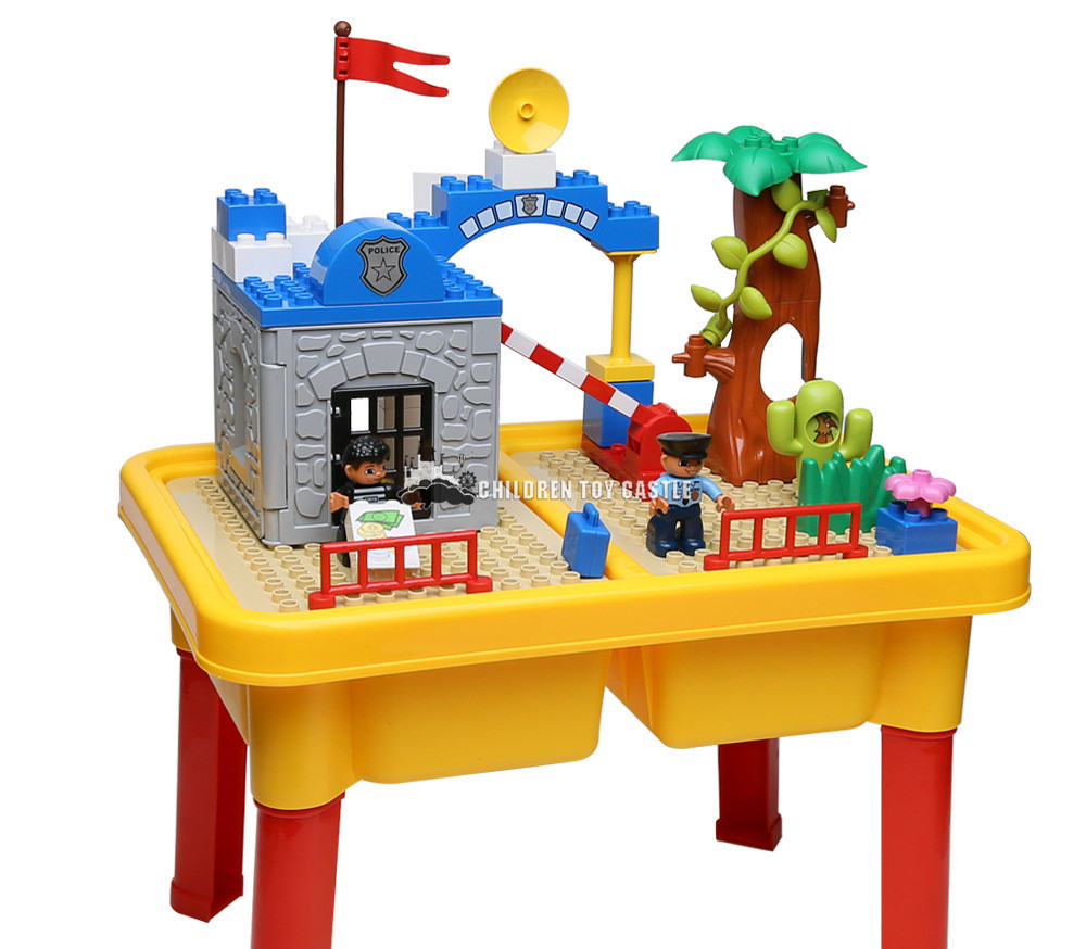 1485 police block table toys particles Compatible With legoe grand parent-child police 1-5 home(China (Mainland))