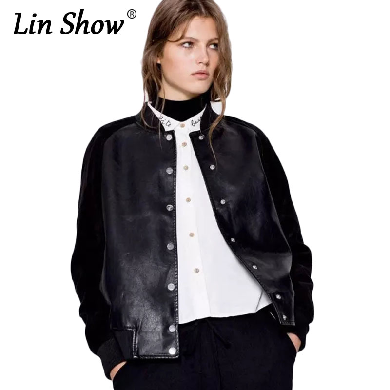 Popular Womens Faux Leather Bomber Jacket-Buy Cheap Womens Faux ...