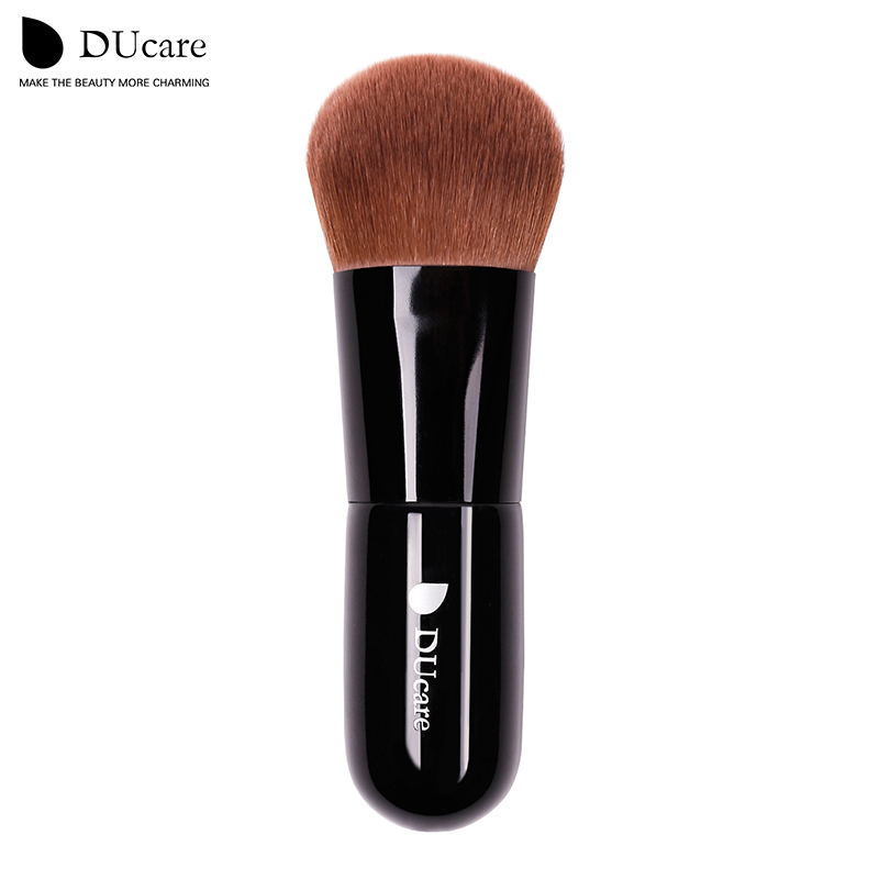 Ducare 1PCS powder brush professional makeup brush high quality make up brushes top brown Synthetic Hair(China (Mainland))