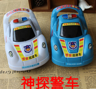 5PCS/LOT Stalls sell toys gift toys special children's wholesale manufacturers selling large inertia police car model(China (Mainland))