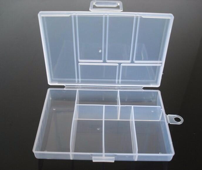 6 Slots Jewelry Tool Box Organizer Storage Beads Box Jewelry Finding Boxes Plastic Packaging Boxes Jewerly Kit F666(China (Mainland))