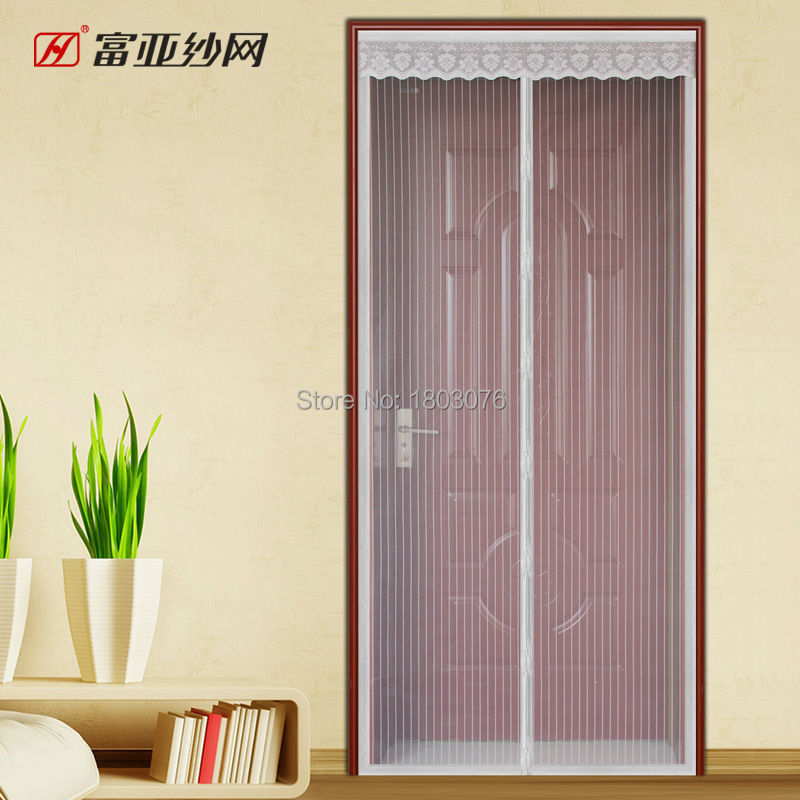 Mosquito net door curtain insect screen for Door net curtains