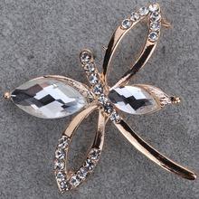 neue mode kristall vergoldet niedlichen schmetterlingen brosche schmuck frauen(China (Mainland))