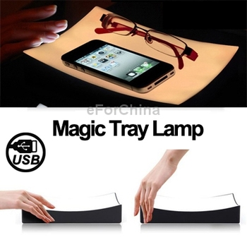 Novelty Magic Tray Lamp Night Lamp Touch Switch Night Light / Mobile Radiation Prevention Tray / Bedside Light