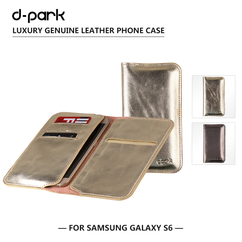 D-park Luxury Genuine Cow Leather Mobile Phone Case Cover For Samsung Galaxy S6 Case,Wallet Card Holder Bag Sleeve for 5.1 inch(China (Mainland))