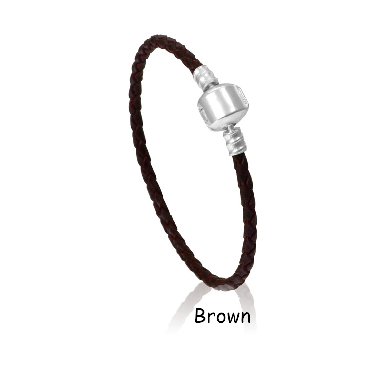 10 Colors Silver Snaps Leather Bracelet Men DIY Women Bracelet Fit Pandora Bracelets For Women And