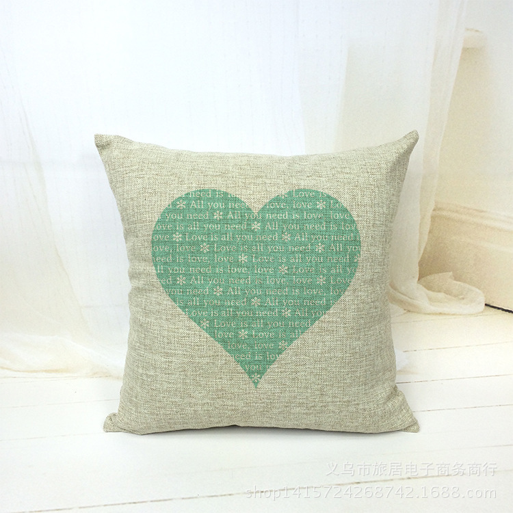 Housse De Coussin Scandinavian Cuscini 18 X 18 Inches Heart Letter Decorative Pillows Home Decor Cushions Cuscini Cojin Almofada